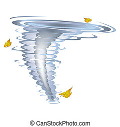 Tornado - illustration of tornado twister with blowing...