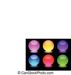 Glowing Spheres