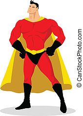 Superhero - Stock vector of cartoon superhero posing