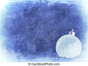 bauble over grunge texture, nice christmas background