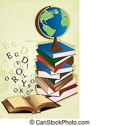 Education books - A vector illustration of a stack of books...