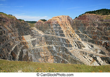 open pit gold mine - massive open pit gold mine in Lead,...
