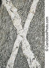 x rock veins