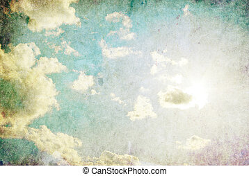 Sky - retro image of cloudy sky