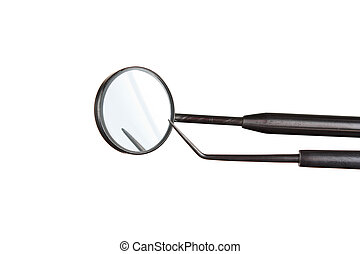 Dental Instruments isolated on a white  background
