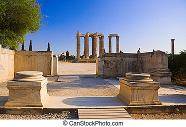 Temple of the Olympian Zeus at Athens, Greece - travel...
