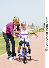 learning riding a bicycle