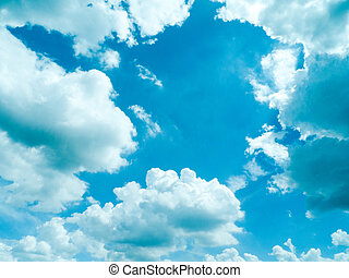 dramatic blue sky with clouds, for backgrounds