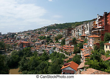 Veliko Tarnovo - View from attractive town Veliko Tarnovo...