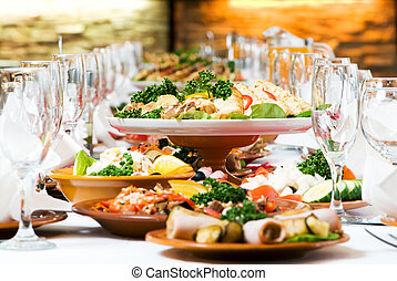 catering food table set decoration - catering table set...