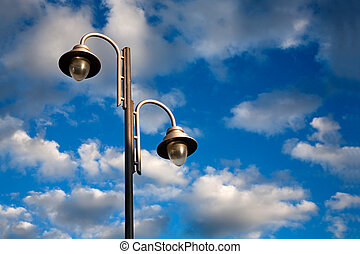 lamppost - Urban landscape with lamppost and dramatize sky