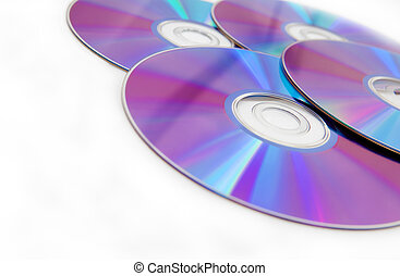 Cd and dvd isolated in white