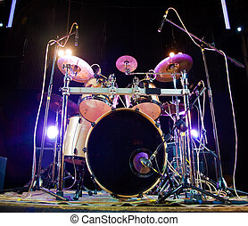 drum  - image of drum on stage