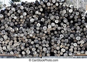 larch logs
