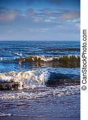 The Baltic Sea - weather on a Baltic sea in winter - strong...