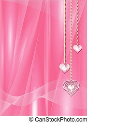 valentine heart diamonds - sparkling diamon hearts on a...