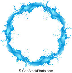 Water splash detailed - Water round splash detailed. Vector...