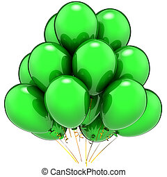 Party balloons total green