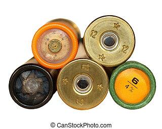 shotgun cartridges isolated
