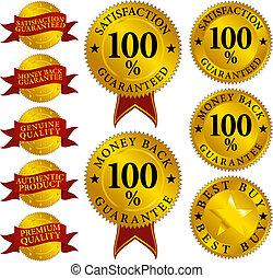 Conjunto, calidad, sellos
