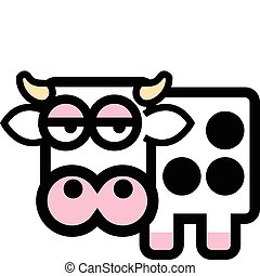 Cute cartoon cow with spots.