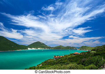 crystalline turquoise sea in Arraial do Cabo, Rio de...