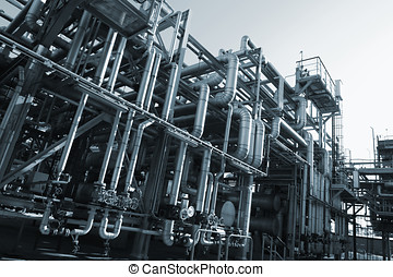 fuel pipelines and machinery - large oil and fuel-pipelines...