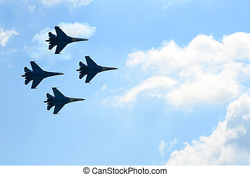 four russian fighters