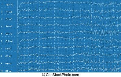 brain wave electroencephalogra - brain wave...