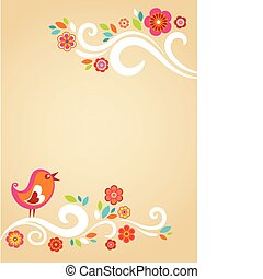 Childish Easter card template - Easter card template with...