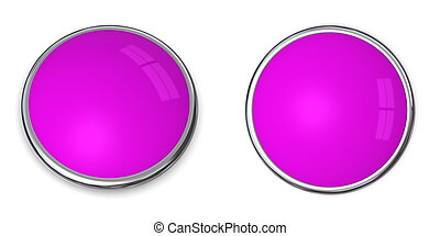 3D Button Solid Purple/Violet - 3D button in solid...