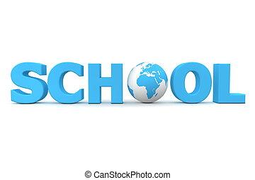 Global School in Blue - One Globe