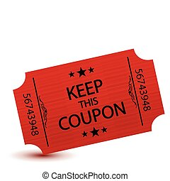 coupon - red keep this coupon illustration design