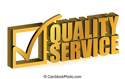 Quality service - golden Quality Service Certificate sign...