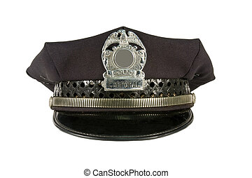 police hat isolated with clipping path at original size