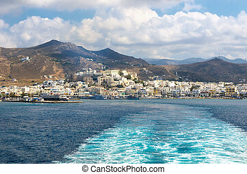 Panorama of Naxos, Cyclades, Greece