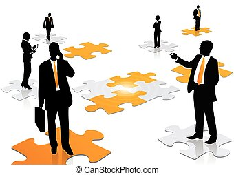 Business team work concept illustration