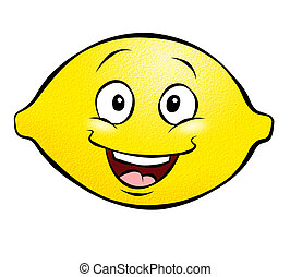 Cartoon Lemon - A happy cartoon lemon Hes not too sour