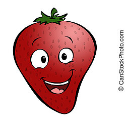 Cartoon Strawberry - A cute cartoon strawberry A healthy...