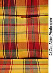 checkered cushioned textile - c