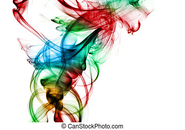 smoke - colors smoke isolated on a white background