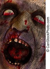 Zombie - Grunge like zombie head