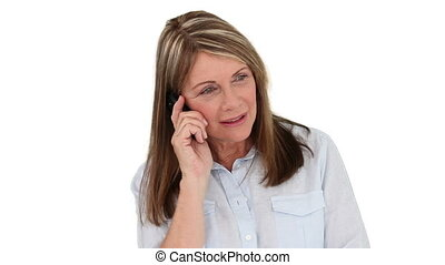 Senior woman having a phone call