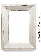 Distressed Picture Frame - Distressed white painted picture...