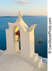 Greek church at Santorini island