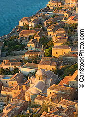 Medieval walled town of Monemvasia, Greece