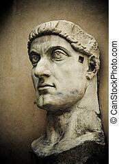 cabeça, imperador, constantine, capitol, Roma