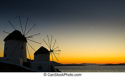 Windmils of Mykonos Island, Greece
