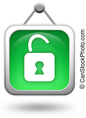 Lock icon - Open lock icon