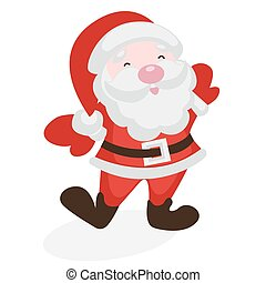 Merry Santa Claus on a white background